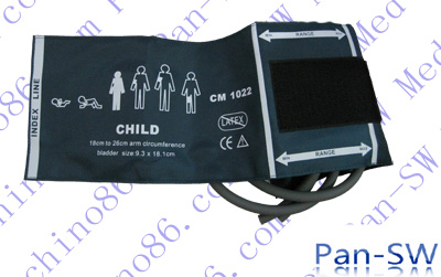 Child dual tube non-invasive blood pressure cuff
