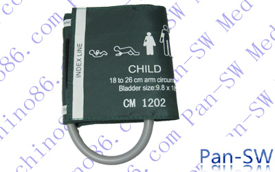 Child single tube non-invasive blood pressure cuff