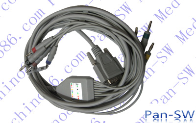 Edan one piece ten leads ECG cable with leadwire