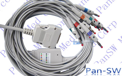Mortara 10 leads EKG cable