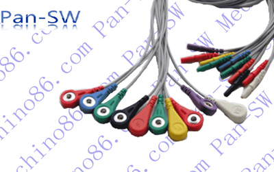 DIN holter leadwires