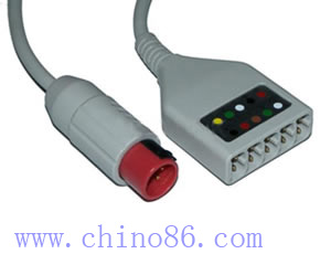 BIONET five lead ECG trunk cable