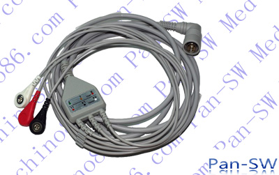 Colin one piece ECG cable with leadwire