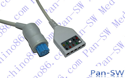 Datex five lead ECG trunk cable