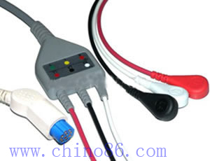 Datex one piece three lead ECG cable with leadwire