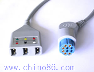 Datex three lead ECG trunk cable