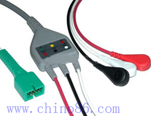 MEK one piece three lead ECG cable with leadwire