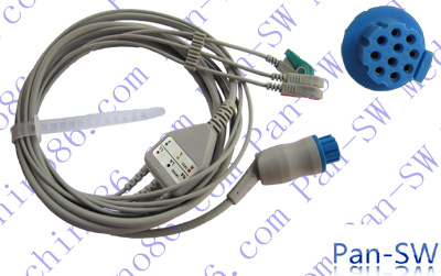 Datex Ohmeda one piece three lead ECG cable with leadwire-PanSW ...